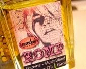 Perfume Oil, Jasmine and Musk Romp Perfume 15ml .5 oz., non-drying alcohol-free
