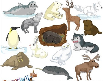 Winter / Artic Animals Clipart