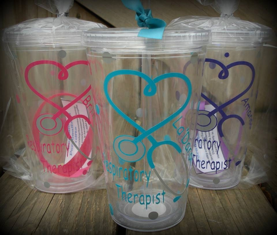 Personalized Respiratory Therapy Tumbler Heart And