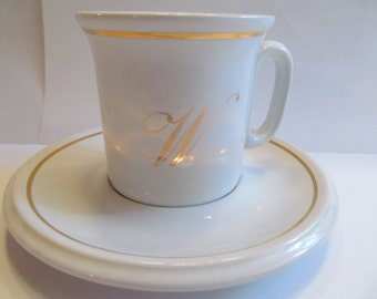 Vintage  ACF  Espresso  Cups and Saucers  Gold Rim set of 4  Italy  69