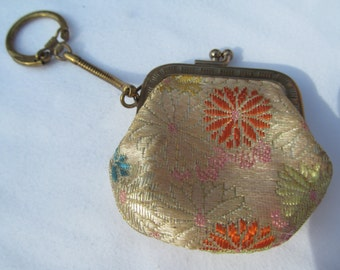 Vintage  Key Chain Coin  Purse  2 1/2''  x  2 1/2''