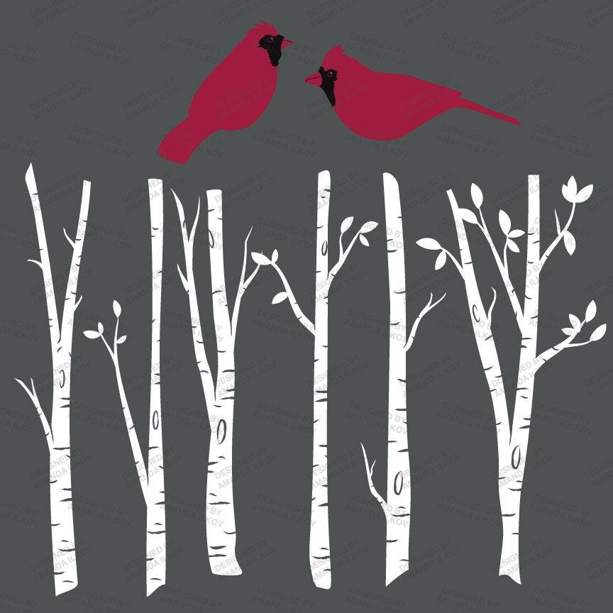 Premium birch tree clipart vector set clip art