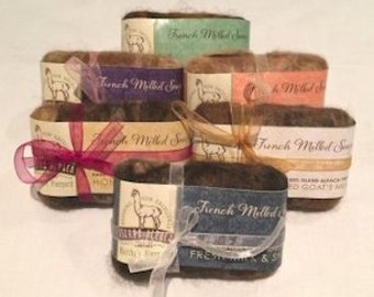 Organic Soaps Wrapped in Hand Felted Alpaca,  A Perfect Gift for Valentines,  Birthday or Mother's Day!