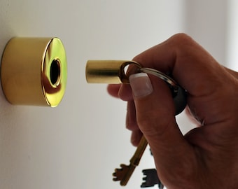 Solid Brass Non-Magnetic Key Holder and Fob - A Stylish Home for Your Keys
