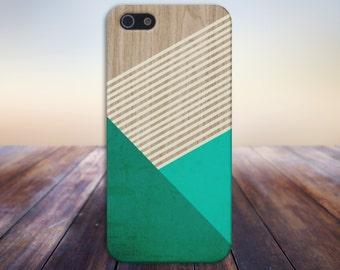 Evergreen Mint Beige Striped Wood Phone Case,iPhone 7, iPhone 7 Plus, Tough iPhone Case, Galaxy s8, Samsung Galaxy Case, Note 5, CASE ESCAPE