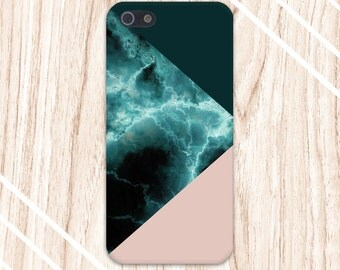 Turquoise Marble x Dark Green x Nude Design Case for iPhone 6 6 Plus iPhone 7  Samsung Galaxy s8 edge s6 and Note 5  S8 Plus Phone Case