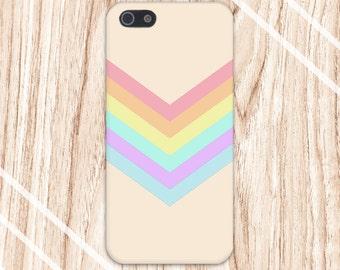 Chevron Pastel Rainbow x Beige Design Case for iPhone 6 6 Plus iPhone 7  Samsung Galaxy s8 edge s6 and Note 5  S8 Plus Phone Case