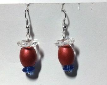 """Earrings """"Red & Blue 1"""""""