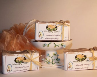 Almond Vanilla  Scented Handmade Bath Soap
