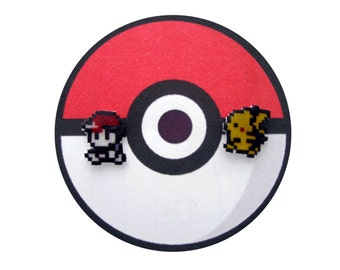 Pokemon Red and Pikachu Earrings