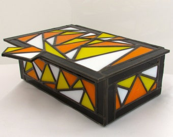 Colorful Stained Glass Heirloom Box