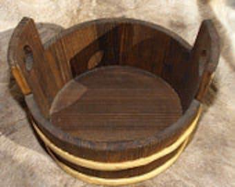 Wooden Tub / Water Bucket - 13 Litre