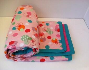 Modern baby blanket - Baby girl blanket - Pink baby girl blanket - pink minky baby blanket