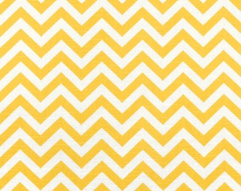 Premier Prints Zig Zag Corn Yellow Slub Fabric - by the Yard