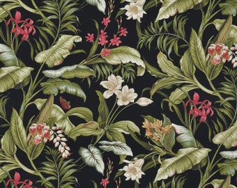 Waverly Wailea Coast Sun N Shade Ebony Fabric -  by the Yard