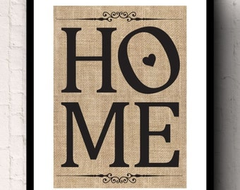 Home Wedding and Anniversary Housewarming Gift Burlap Wall Decor