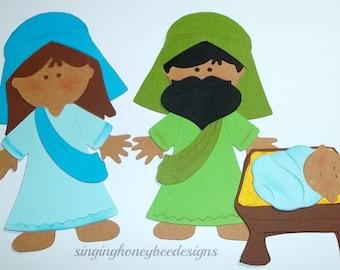Christmas Nativity die cuts, Nativity diecuts, Nativity cutouts, Nativity embellishments, DIY Nativity craft, Christmas supplies