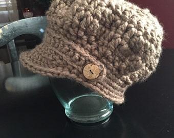 Chunky Slouchy Newsboy hat