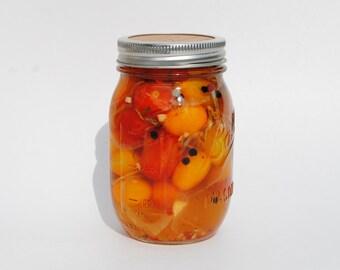 Sweet Pickled  Cherry Tomatoes  24 oz Jar