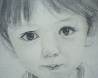 Custom original pencil portrait,hand painted drawing portrait,pencil sketch portrait,drawing painting from photos,child portrait painting