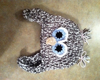 Owl Hat w/ Ear Flaps
