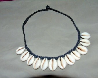 Cowrie Shell Necklace with 12 Shells