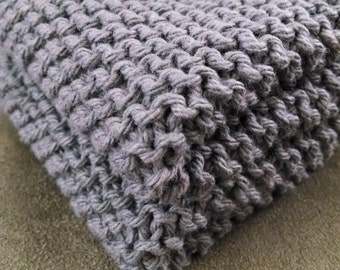 FLASH SALE Gray Knit Dish Cloth, Set of 2 or 3