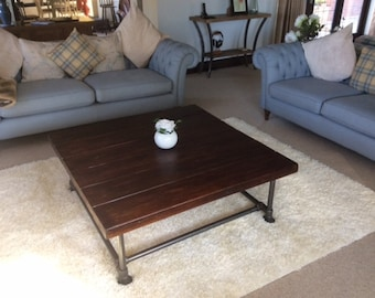 Industrial Style Reclaimed Scaffold Coffee Table