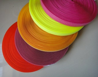 5Yards 1Yard of Each Color 3/4'' Sew on Velcro Hook and Loop Tape