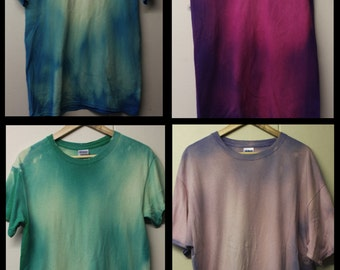 Acid Wash Tie Dye Tshirt Hipster 90's Festival Grunge Summer faded mens t shirt