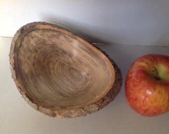 Spalted ash natural edge bowl