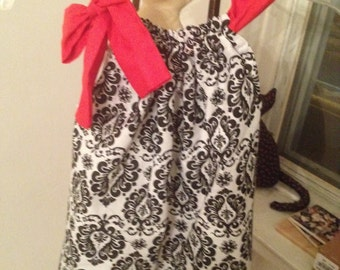 Black and white bandana dress2-4T