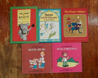 Vintage 70s Collection of Children's Books