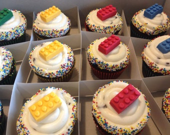 Lego Cupcake Toppers - 24 count