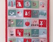 Advent calendar - retro inspired fabric