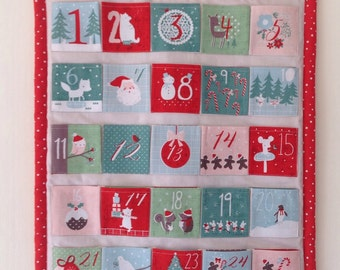 Advent calendar - retro inspired fabric