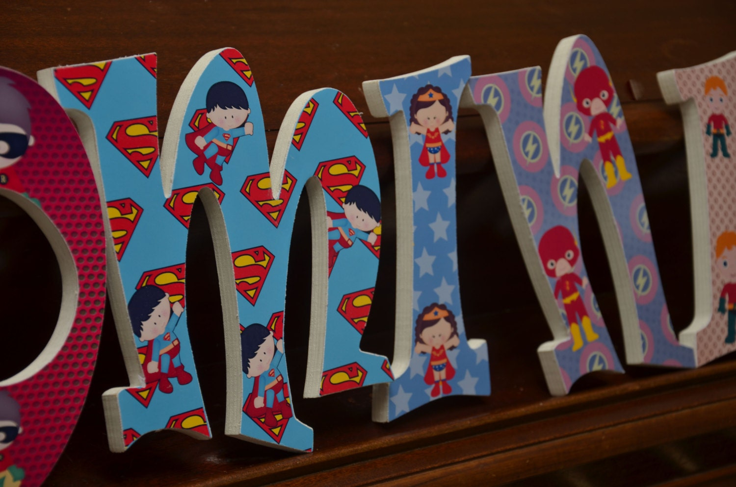 Wooden Letters For Bedroom Superhero Theme Baby Boy