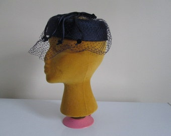 Vintage 40's or 50's Lady's Hats along with 2 Headbands