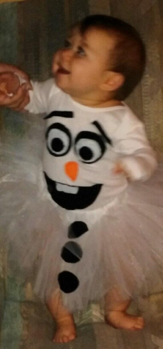 Baby Olaf Tutu Costume Niftygiftyunderfifty Etsy