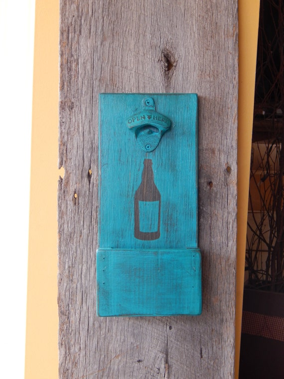 Wall Mounted Bottle Opener With Cap Catcher And Easy Removal