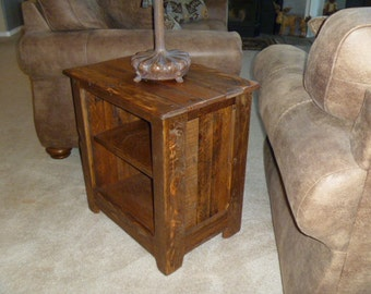Rustic Pallet end table, cabinet,  rustic nightstand, end table, jelly cabinet, bathroom storage, repurposed, recycled