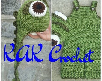 Chameleon overalls and hat; cute photo props and costumes, Pascal Hat by itself available as well ;)