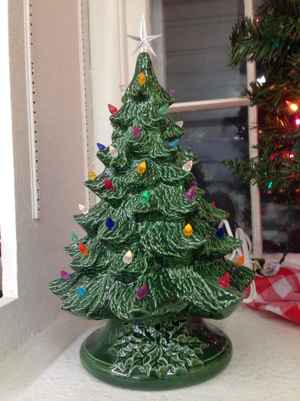 VINTAGE style Ceramic Christmas Tree Ceramic Christmas Tree