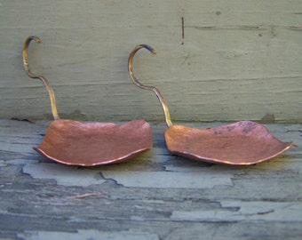 Set of Two Hammered Copper Tealight/Votive Candle Holders