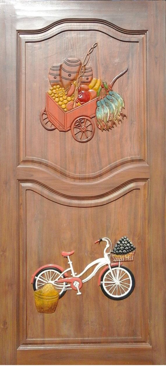 Carved teak wood interior exterior entry entrance front ...