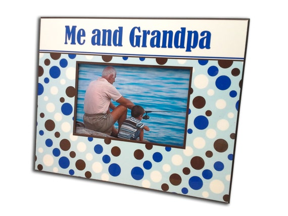 Me Amp Grandpa Picture Photo Frame Free By Monogramselection
