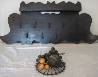 Antique Queen Anne Style Hanging Game and Herb Rack  Fabulous