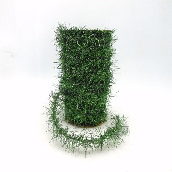 Kelly green christmas tinsel garland spool yards