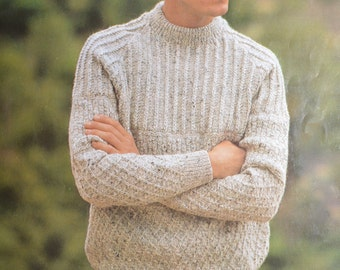 PDF men's textured sweater vintage knitting pattern pdf INSTANT download pattern only pdf