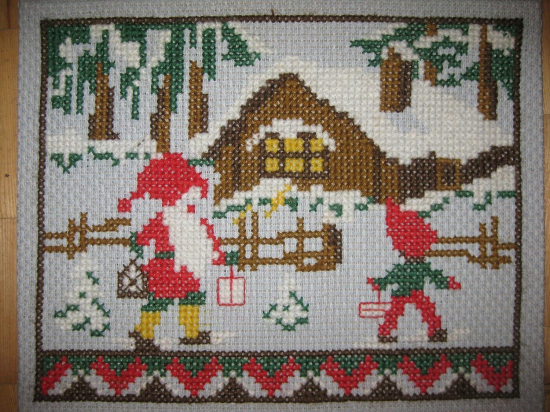 Vintage Christmas Wall Decor : Vintage swedish handmade christmas wall decor home